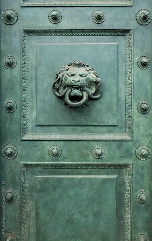 Lion Head Door Knocker by Jeff Wasserman for Stocksy United