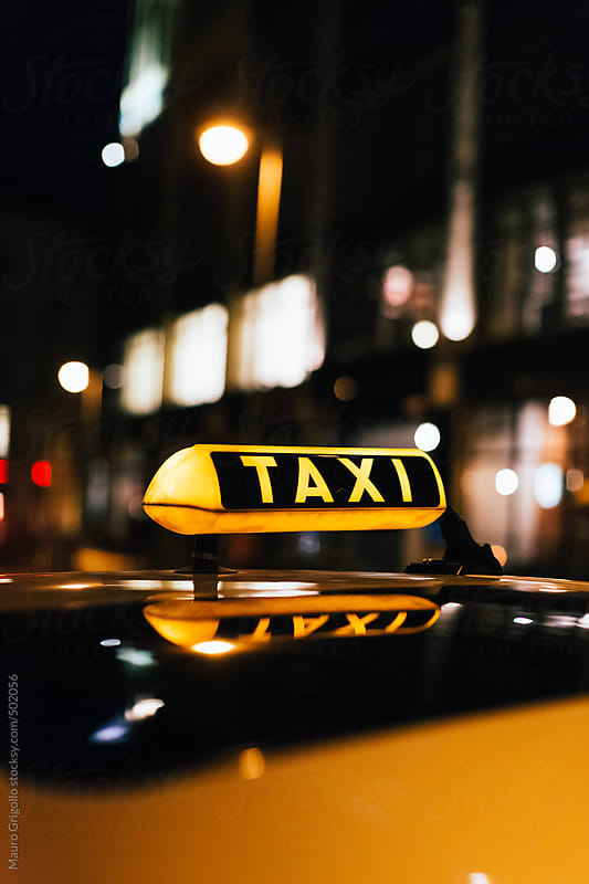 Taxi Sign by Mauro Grigollo for Stocksy United