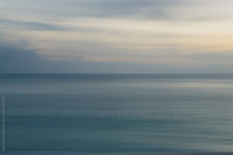 Long exposure abstract of ocean and sky Oahu, Hawaii by Paul Edmondson for Stocksy United