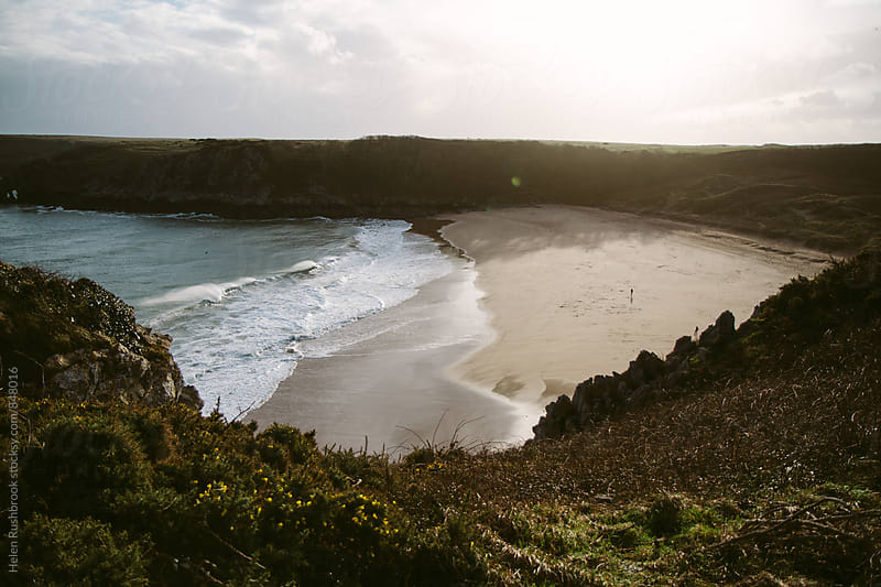 Barafundle Bay, Wales by Helen Rushbrook for Stocksy United
