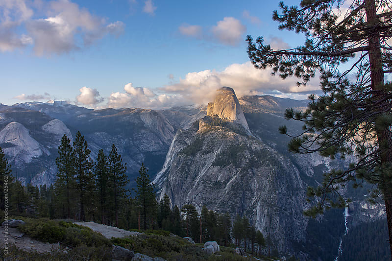 Half Dome and Yosemite Valley as seen from Glacier point by Chris Chabot for Stocksy United