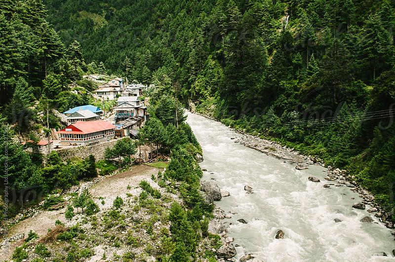 Typical Nepalese village, Lukla Valley, Everest Region, Sagarmatha National Park, Nepal. by Thomas Pickard for Stocksy United