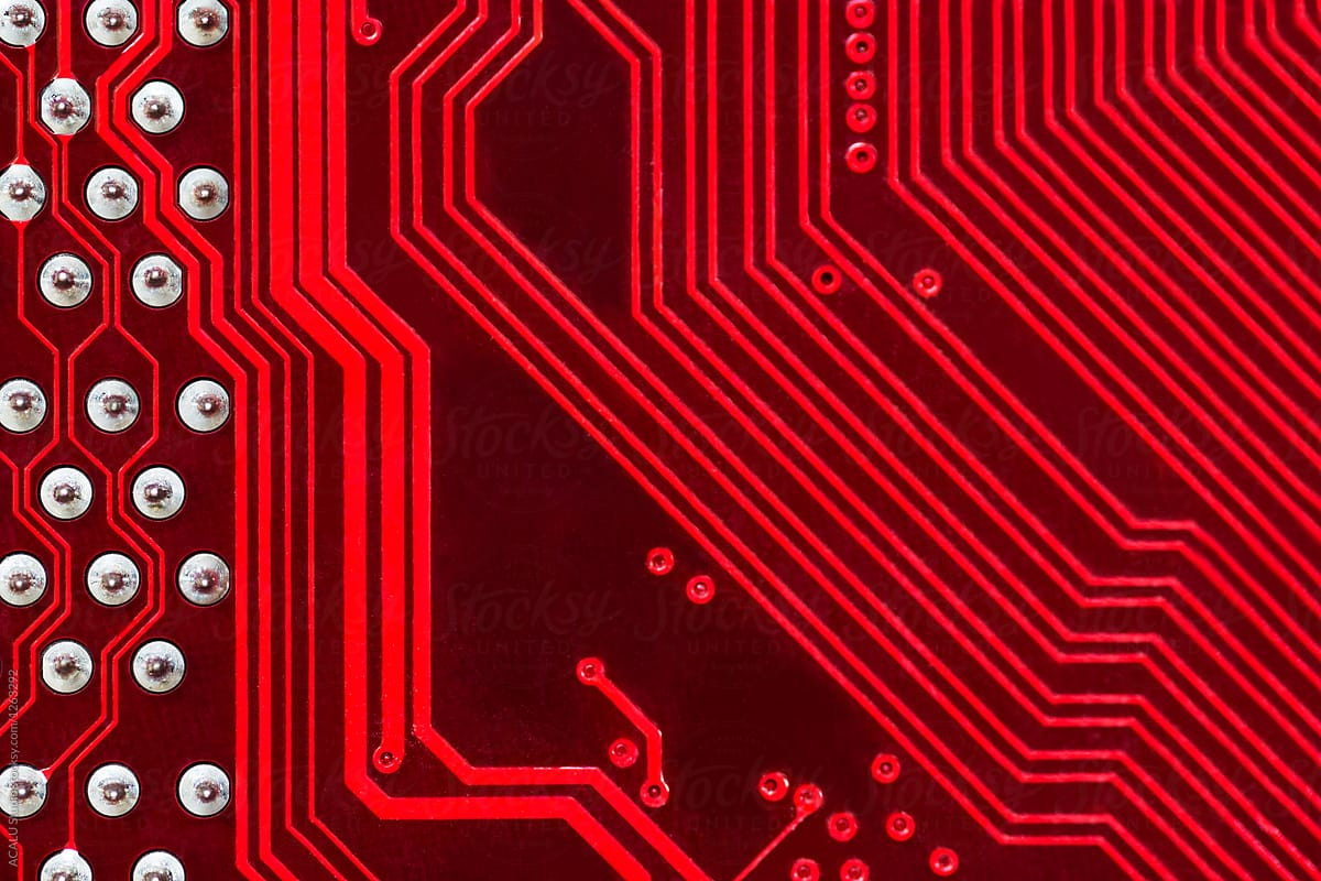 Printed Circuit Boards Red Not Lossing Wiring Diagram Pics Photos Desktop Wallpapers Board Pictures Background Stocksy United Rh Com Intel Assembly