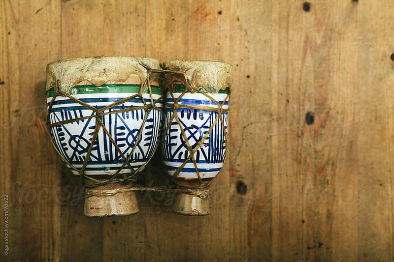 Traditional Moroccan tambourine by kkgas for Stocksy United