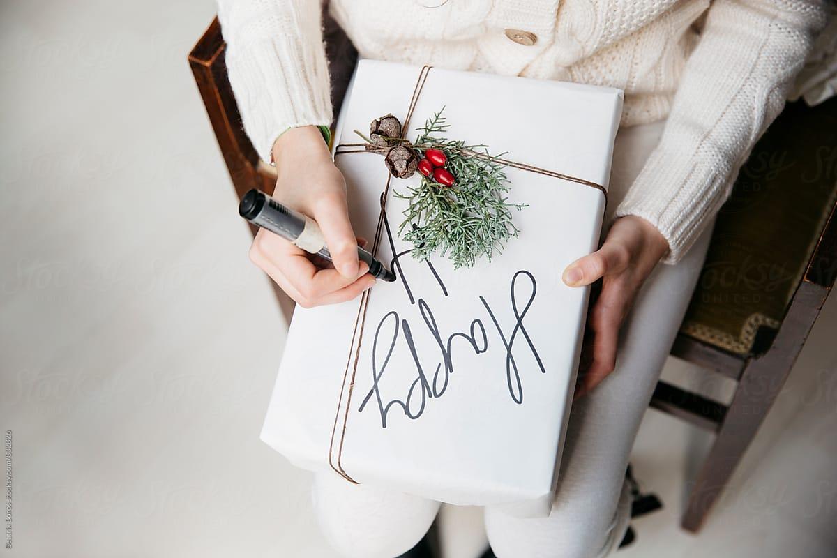 Handwritten Christmas decor