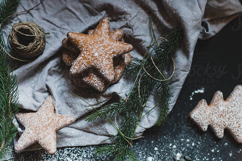 Gingerbread Christmas festive decor by Natasa Kukic for Stocksy United
