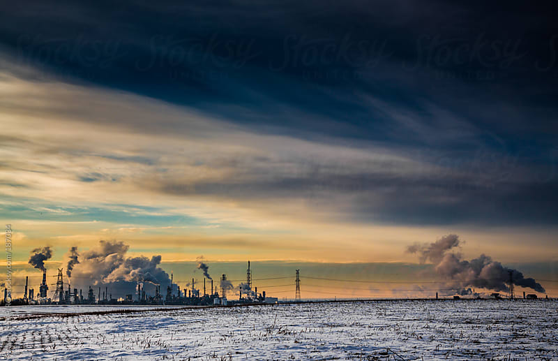 oil refinery by ALAN SHAPIRO for Stocksy United