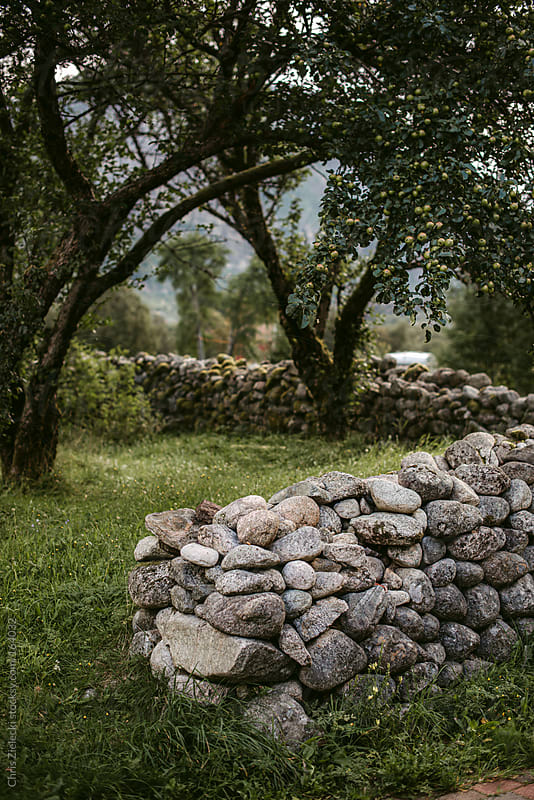 stone fence by Christian Zielecki for Stocksy United