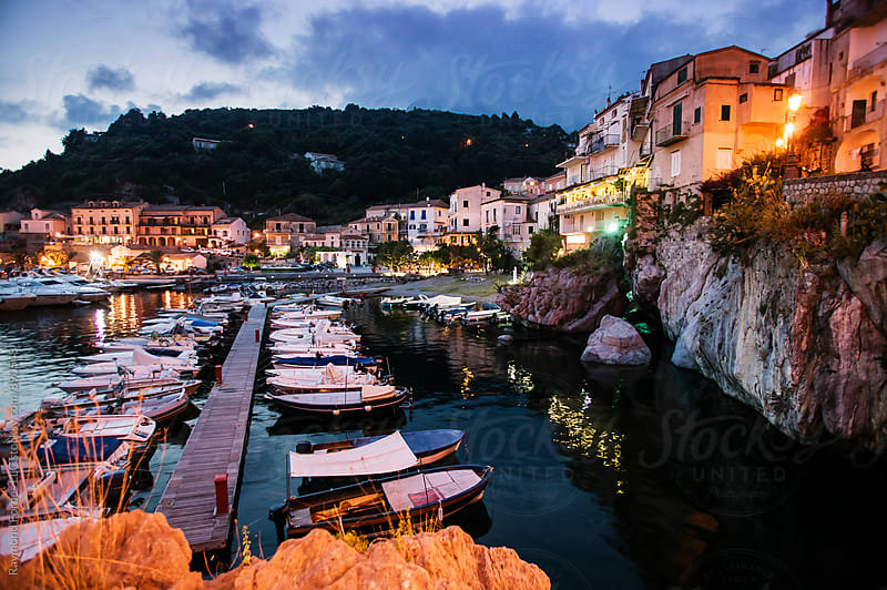 Maratea Harbor Basilicata, Italy by Raymond Forbes LLC for Stocksy United