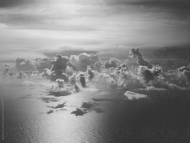 Beautiful clouds seen from above by Leandro Crespi for Stocksy United