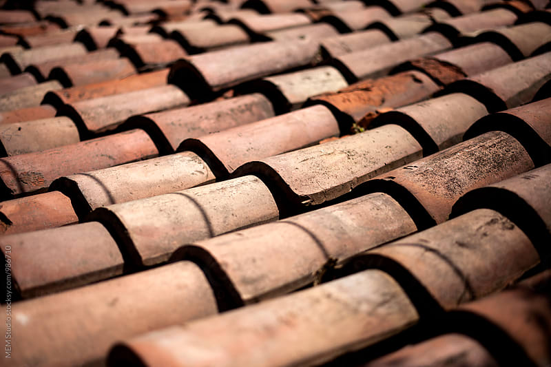 Old roof-tiles by MEM Studio for Stocksy United