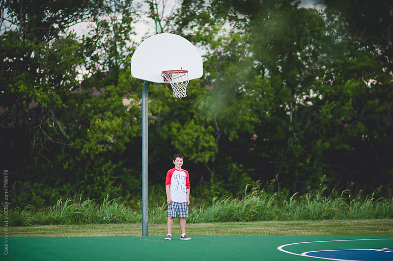 at the hoop by Courtney Rust for Stocksy United
