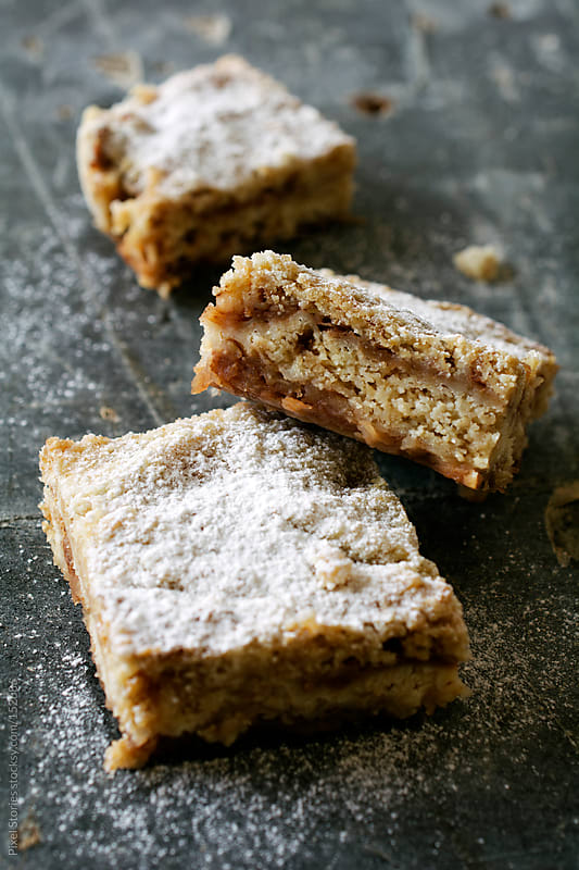 Apple pie bars by Pixel Stories for Stocksy United