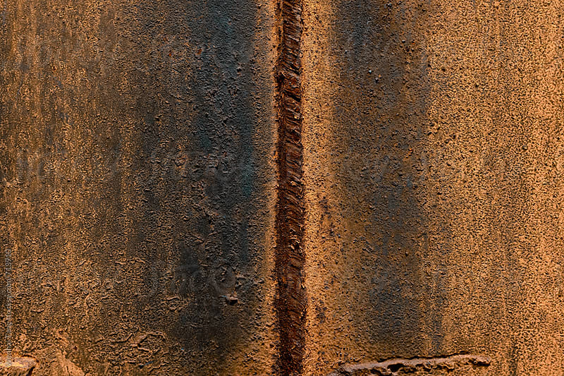 Old rusty metal plate texture background by Wenhai Tang for Stocksy United