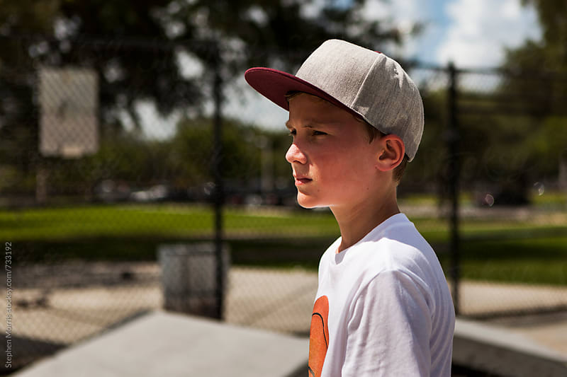 Teenager at skate park by Stephen Morris for Stocksy United