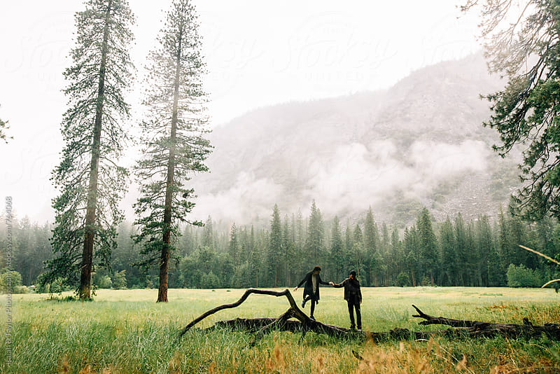Couple exploring outdoors by Isaiah & Taylor Photography for Stocksy United