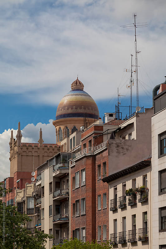 Madrid, Spain - Cityscape with a Multicolored Mosaic Dome by Tom Uhlenberg for Stocksy United