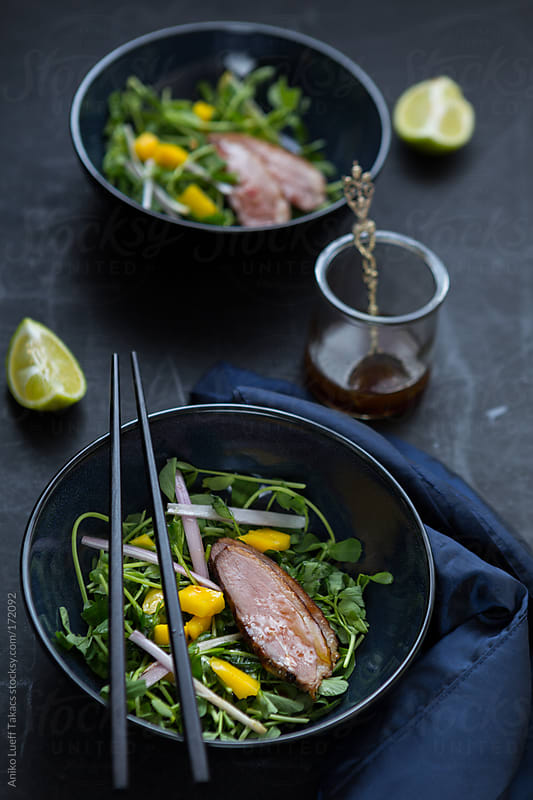 Smoked Duck Breast Salad by Aniko Lueff Takacs for Stocksy United