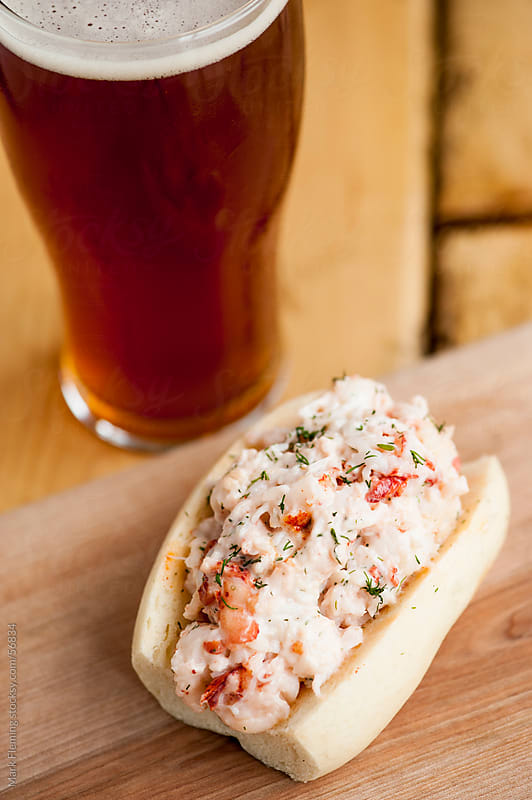 Maine Lobster Roll by Mark Fleming for Stocksy United