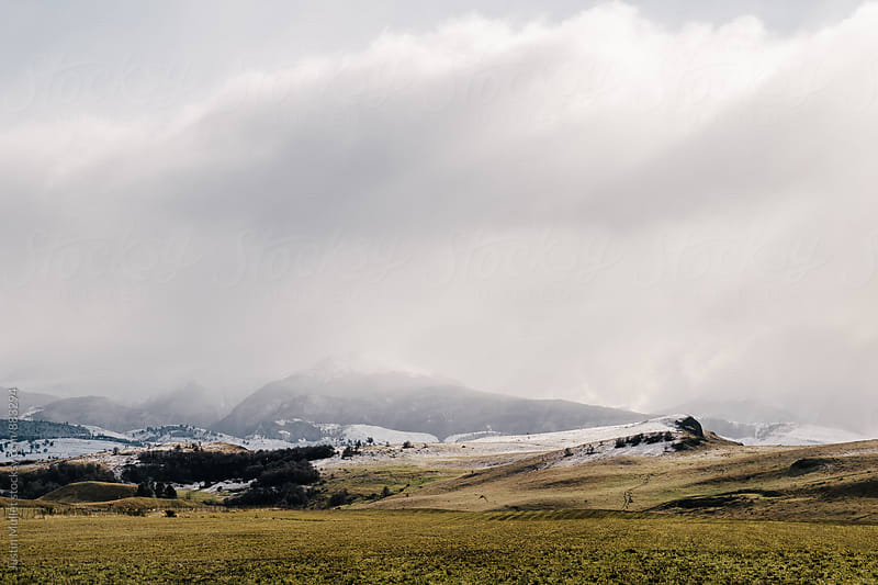 Rainy and cool weather above a rugged Patagonian landscape by Justin Mullet for Stocksy United