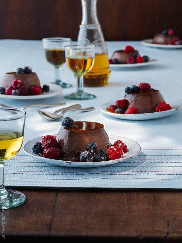Chocolate amaretto flan by J.R. PHOTOGRAPHY for Stocksy United