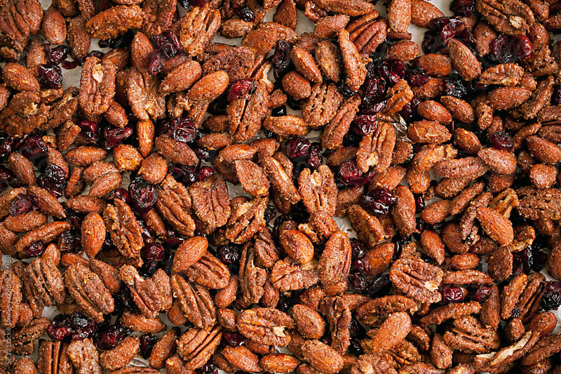 Nuts: Sugar Spiced Almonds and Pecans with Cranberries by Sean Locke for Stocksy United