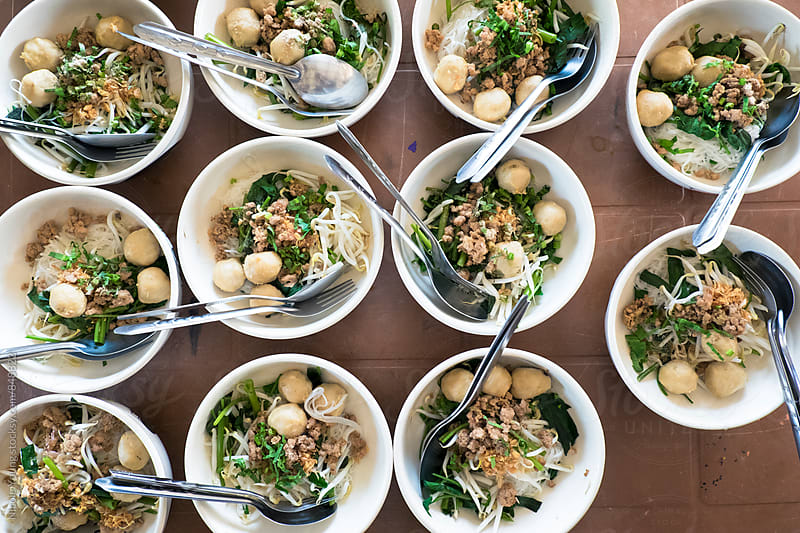 Bowls of Thai Food by Nicole Young for Stocksy United