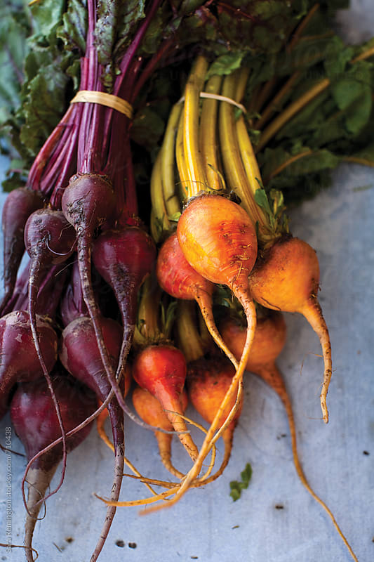Red and Yellow Beets by Sara Remington for Stocksy United
