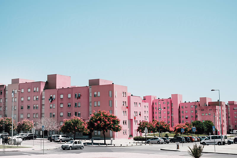 Pink Neighborhood by Katarina Radovic for Stocksy United