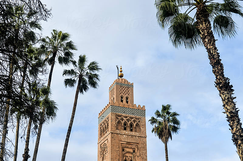 The Koutoubia Mosque in the medina of Marrakech by Bisual Studio for Stocksy United