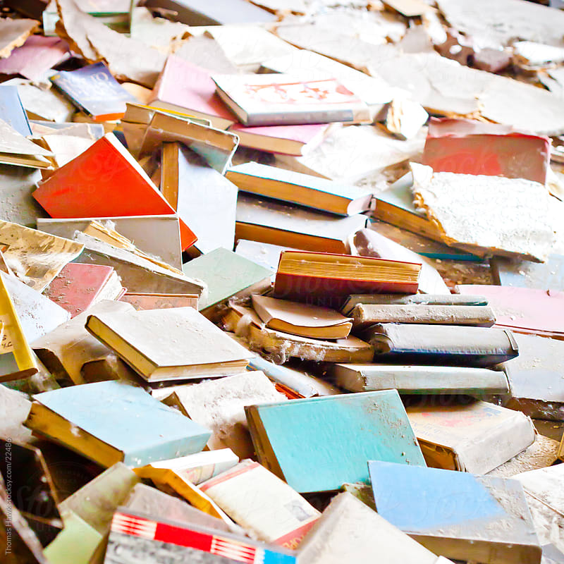 abandoned books by Thomas Hawk for Stocksy United