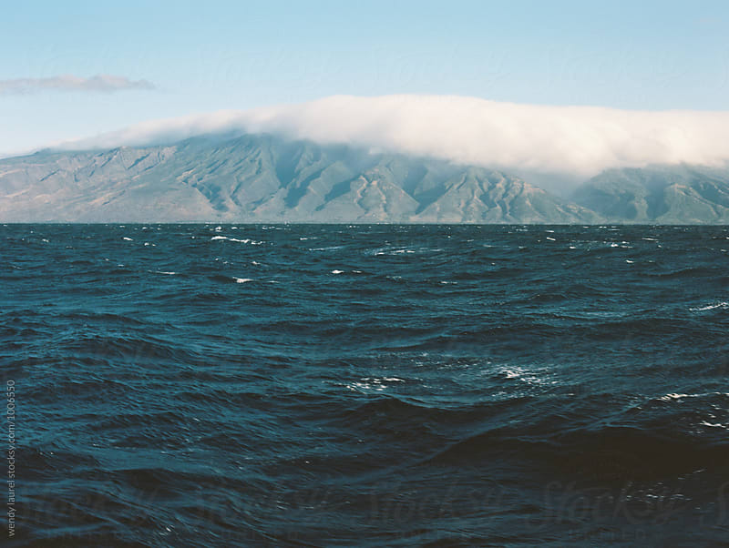 molokai island in state of hawaii over ocean by wendy laurel for Stocksy United
