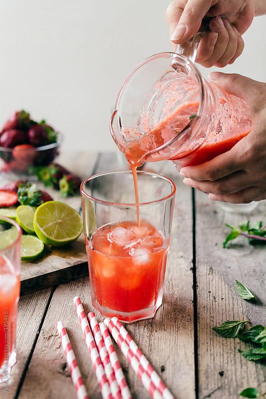 Strawberry lemonade by Pixel Stories for Stocksy United