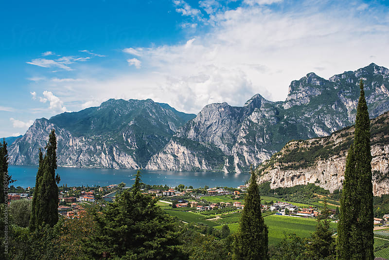 Distant view of Lake Garda, Italy by Lea Csontos for Stocksy United