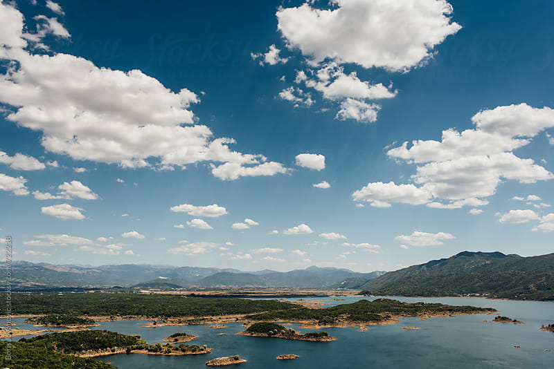 Salt water lake by Niksic in Montenegro by Boris Jovanovic for Stocksy United