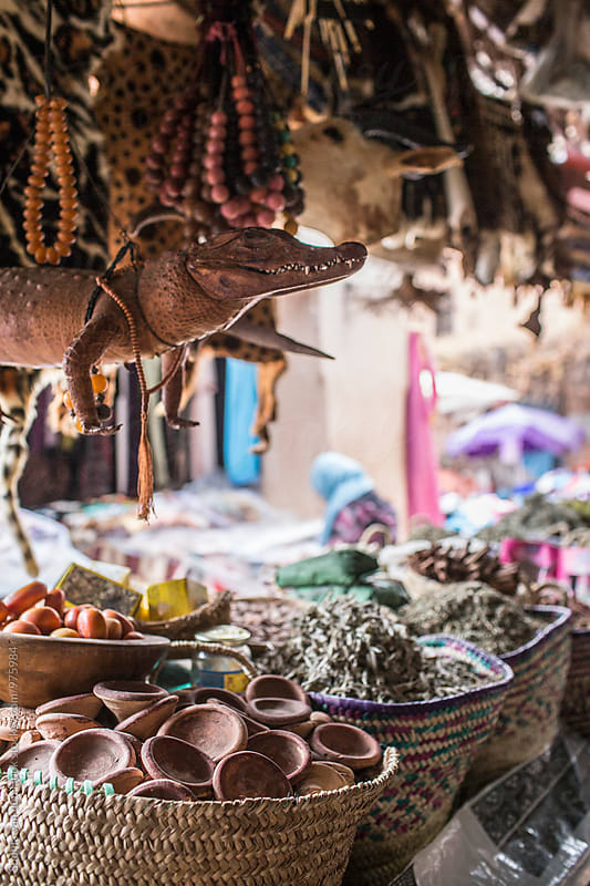 Market in Marrakech by Sophia van den Hoek for Stocksy United