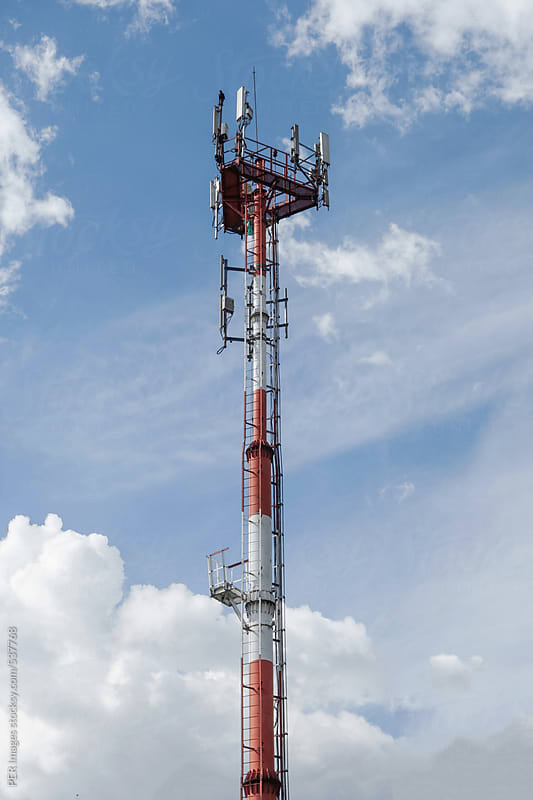 Cell phone radio tower by Per Swantesson for Stocksy United