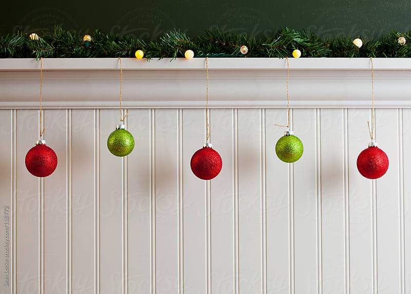 Holidays: Line Of Christmas Ornaments by Sean Locke for Stocksy United