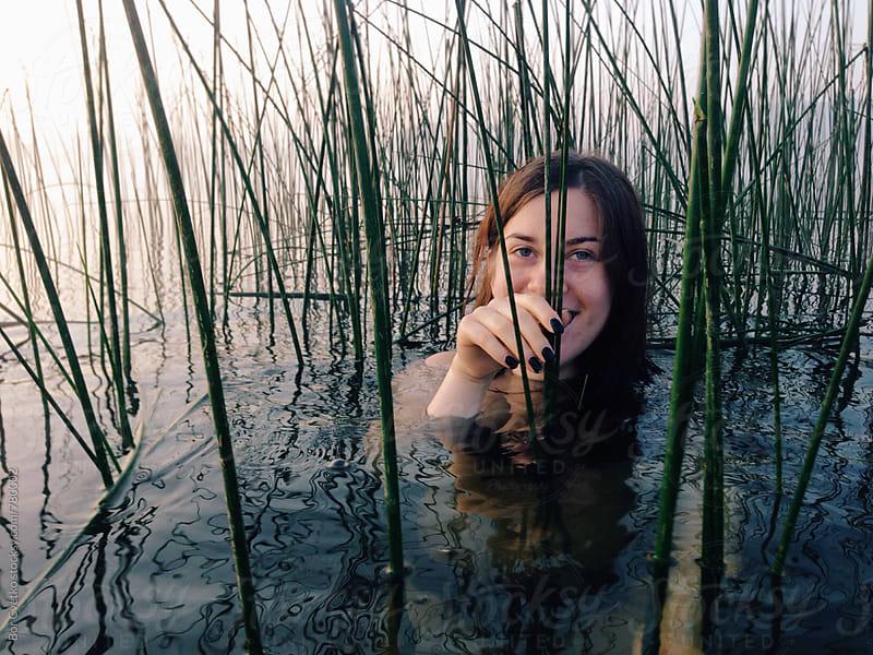 Morning laugh in the lake by Bor Cvetko for Stocksy United