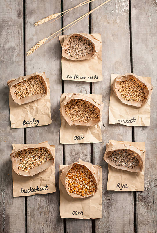 Organic Grains in Bags by Mosuno for Stocksy United