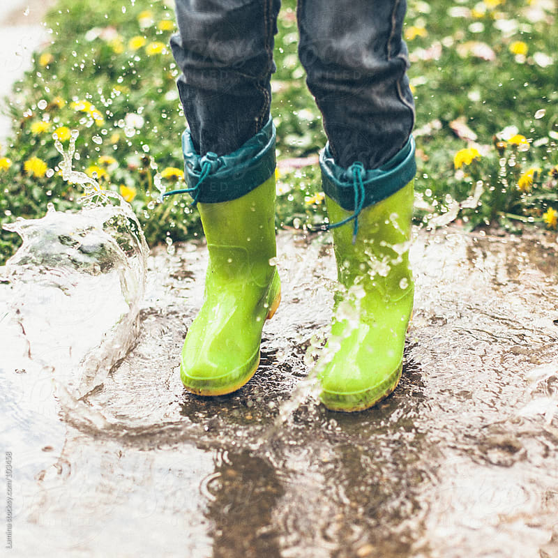 Green Rubber Boots by Lumina for Stocksy United