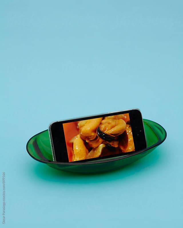 Digital Marinade Mussels by Oscar Parasiego for Stocksy United