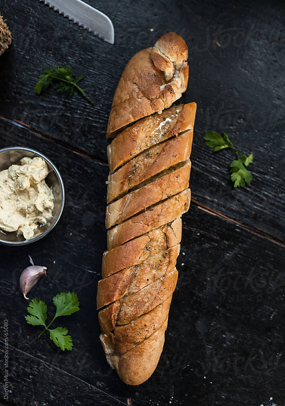 Homemade Garlic Bread. by Darren Muir for Stocksy United