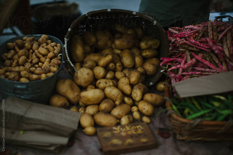 Potatoes at Farmer's Market by Christian Gideon for Stocksy United