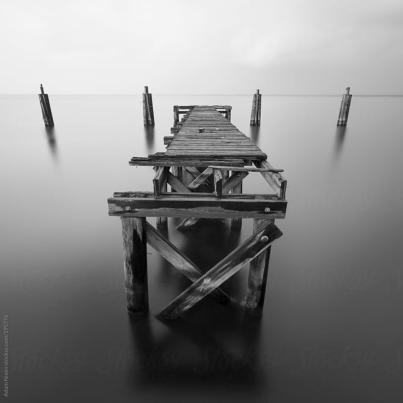 Solitude Wooden Dock by Adam Nixon for Stocksy United