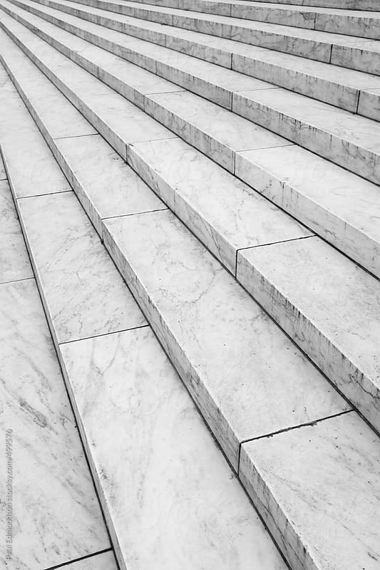 Marble stairs at the Jefferson Memorial by Paul Edmondson for Stocksy United