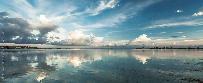 Panorama of the maledives by Leander Nardin for Stocksy United