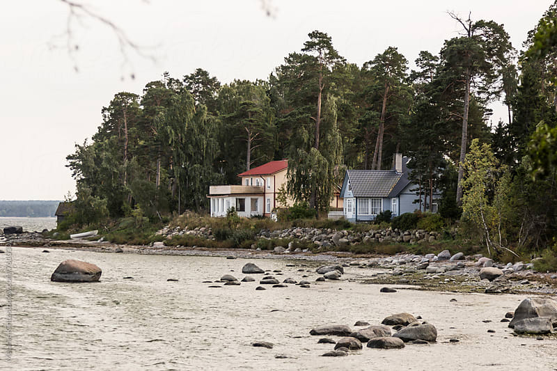Houses at Kaesmu Bay, Estonia by Melanie Kintz for Stocksy United