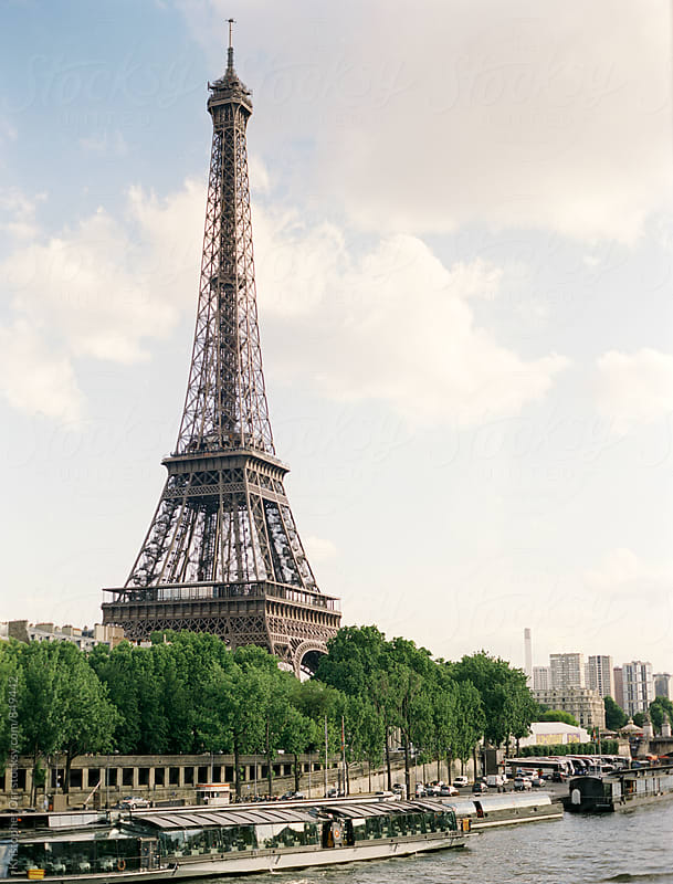 Eiffel tower on the Seine by Kristopher Orr for Stocksy United