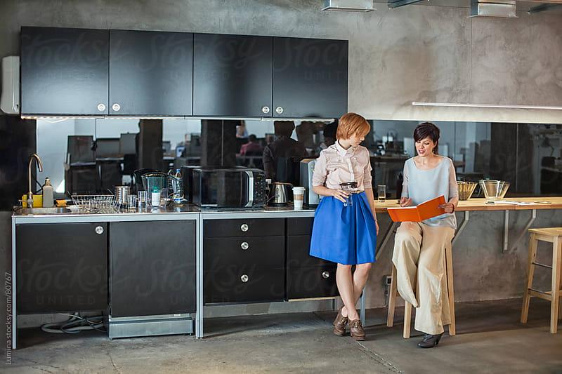 Businesswomen on a Coffee Break by Lumina for Stocksy United